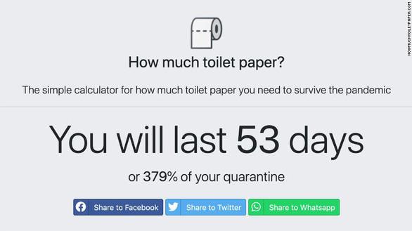 Công cụ online giúp tính lượng giấy vệ sinh đủ dùng, không cần tích trữ quá mức - Ảnh 1.