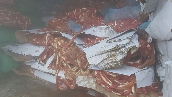 Phát hiện 50 tấn nội tạng không nguồn gốc trong trang trại ở Hải Dương - Ảnh 1.