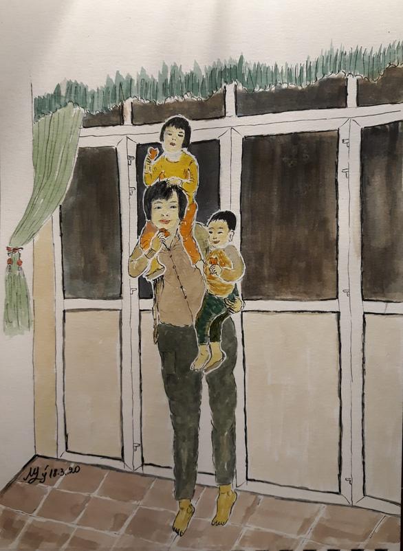 Hà Nội yêu thương, Hà Nội lạ kỳ qua ký họa mùa COVID-19 - Ảnh 5.