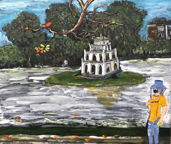 Hà Nội yêu thương, Hà Nội lạ kỳ qua ký họa mùa COVID-19 - Ảnh 7.