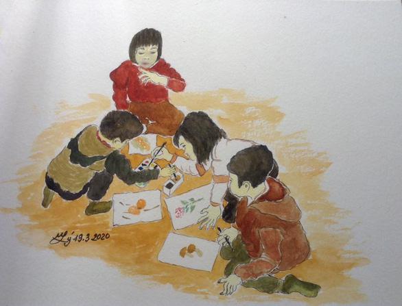Hà Nội yêu thương, Hà Nội lạ kỳ qua ký họa mùa COVID-19 - Ảnh 17.