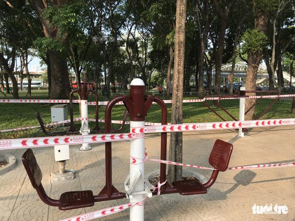 TP.HCM ngưng hoạt động các khu tập thể dục, khu trò chơi thiếu nhi tại công viên - Ảnh 8.
