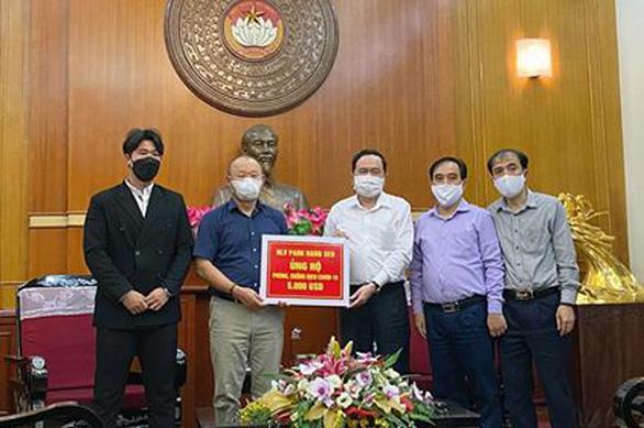 HLV Park Hang Seo ủng hộ gần 120 triệu đồng cho Quỹ phòng chống dịch COVID-19 - Ảnh 1.