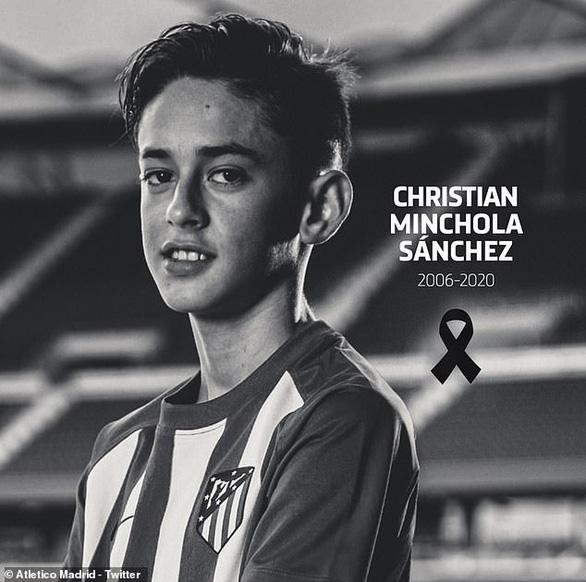 Tài năng trẻ của Atletico Madrid qua đời ở tuổi 14 - Ảnh 1.