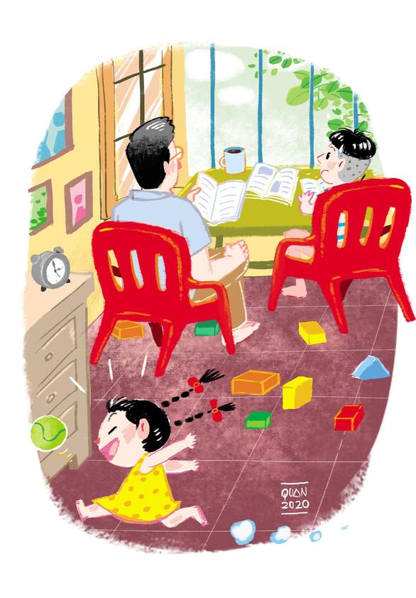 Lớp học ở nhà, ngày dài hóa trong trẻo