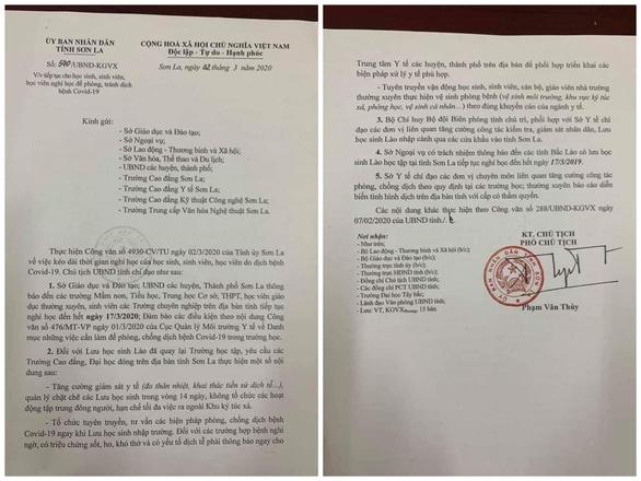 Sơn La cho học sinh nghỉ học sau 1 ngày trở lại trường - Ảnh 1.