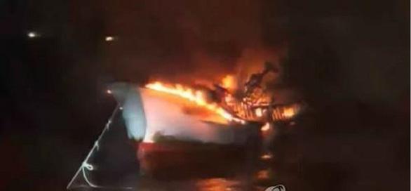 5 thuyền viên Việt mất tích trong vụ hỏa hoạn tàu cá ngoài khơi đảo Jeju - Ảnh 1.