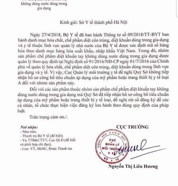 Sở Y tế Hà Nội bị trách vì chứng nhận sản phẩm sai - Ảnh 1.
