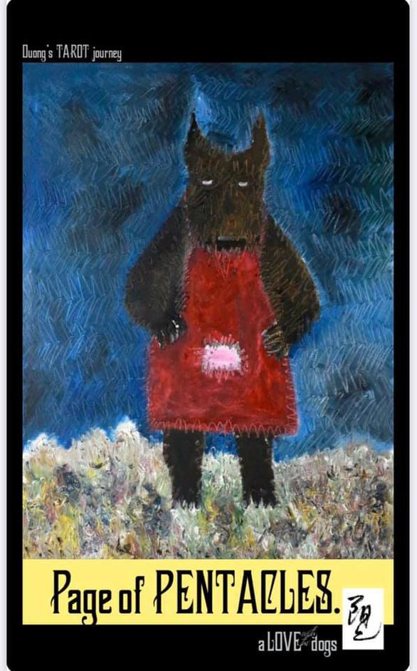 Bùi Hoàng Dương lại triển lãm 78 bức tranh chỉ toàn… chó Mông cộc - Ảnh 2.