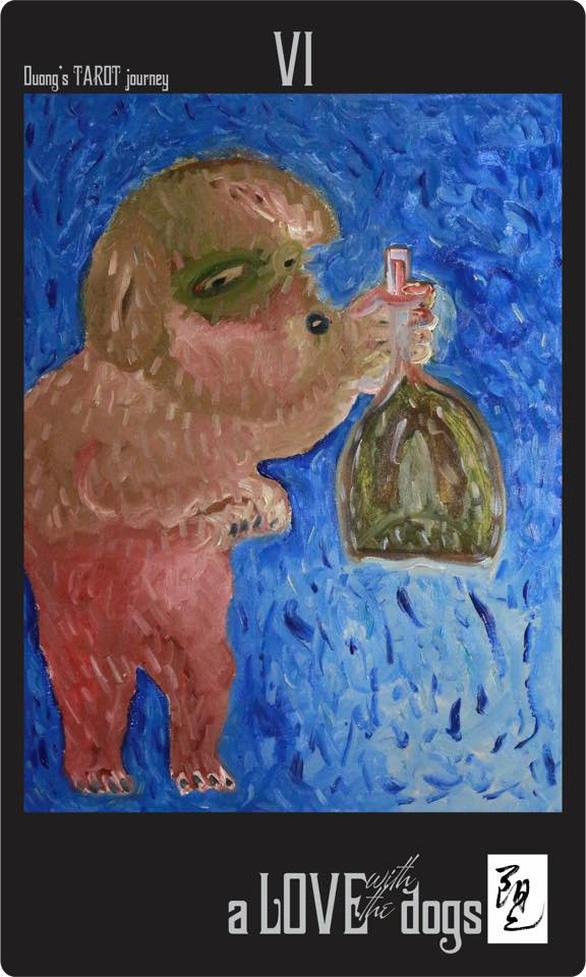 Bùi Hoàng Dương lại triển lãm 78 bức tranh chỉ toàn… chó Mông cộc - Ảnh 3.