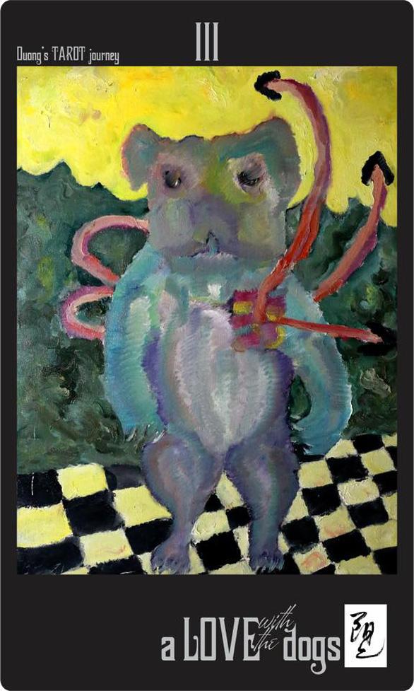 Bùi Hoàng Dương lại triển lãm 78 bức tranh chỉ toàn… chó Mông cộc - Ảnh 4.
