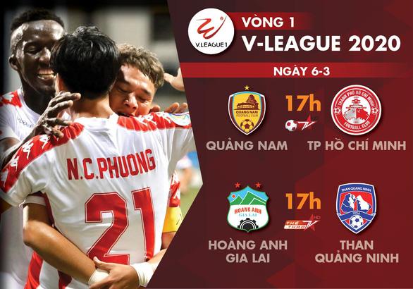 Lịch trực tiếp vòng 1 V-League 2020: Hoàng Anh Gia Lai, TP.HCM xuất trận - Ảnh 1.