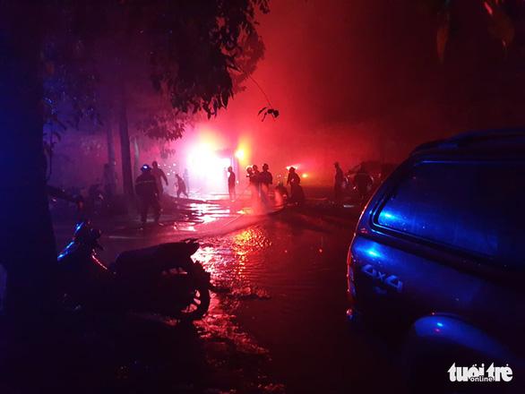 Cháy lớn nhà xưởng trong Khu công nghiệp Cát Lái - Ảnh 2.