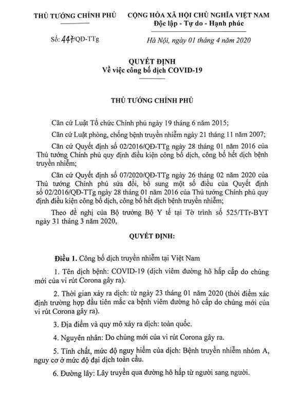 Thủ tướng công bố dịch COVID-19 trên toàn quốc - Ảnh 1.