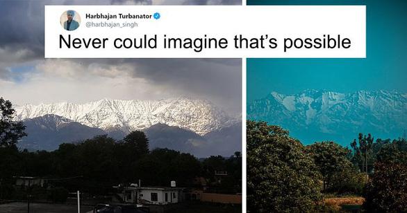 Lần đầu nhìn thấy dãy Himalaya từ miền bắc Ấn Độ sau 30 năm - Ảnh 1.