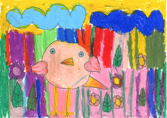 Thế giới màu sắc diệu kỳ trong triển lãm online của các nghệ sĩ tự kỷ - Ảnh 5.