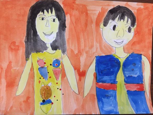 Thế giới màu sắc diệu kỳ trong triển lãm online của các nghệ sĩ tự kỷ - Ảnh 2.