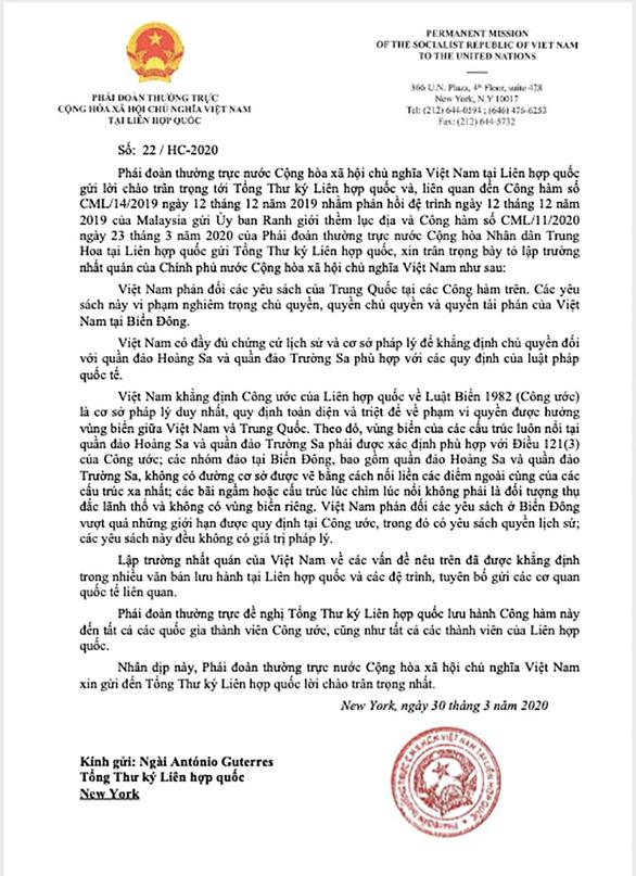 Vụ công hàm Việt Nam gửi Liên Hiệp Quốc: Luật pháp sẽ thắng luật rừng - Ảnh 3.