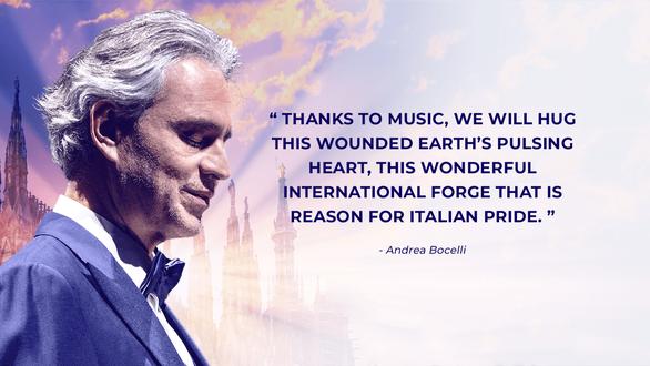 Đêm 12-4, danh ca Andrea Bocelli 'hát cho niềm hi vọng' phục sinh - Ảnh 4.