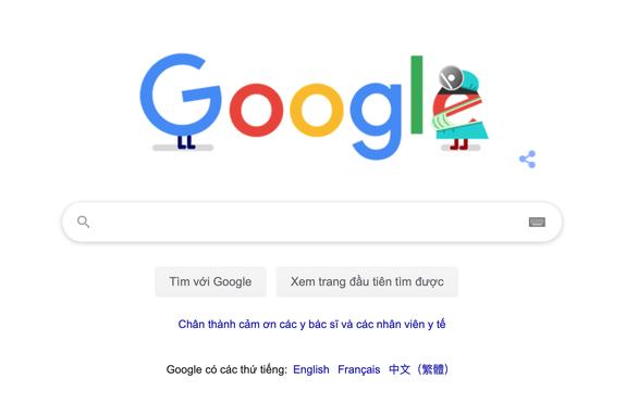 Google khởi xướng tuần lễ tri ân người đầu tuyến chống dịch COVID-19 - Ảnh 1.