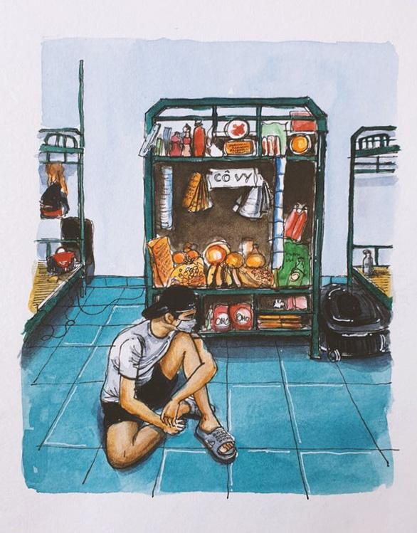 Vẽ về khu cách ly Việt Nam - bộ tranh truyền cảm hứng cực mạnh của một du học sinh - Ảnh 7.