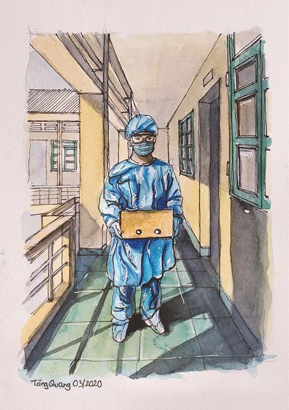 Vẽ về khu cách ly Việt Nam - bộ tranh truyền cảm hứng cực mạnh của một du học sinh - Ảnh 1.