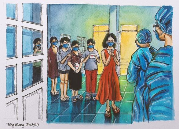 Vẽ về khu cách ly Việt Nam - bộ tranh truyền cảm hứng cực mạnh của một du học sinh - Ảnh 9.