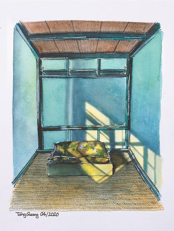 Vẽ về khu cách ly Việt Nam - bộ tranh truyền cảm hứng cực mạnh của một du học sinh - Ảnh 10.