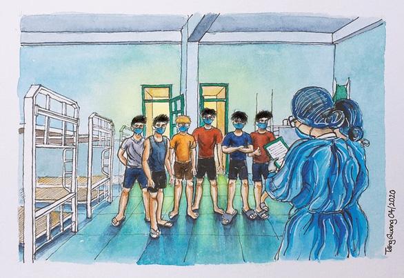Vẽ về khu cách ly Việt Nam - bộ tranh truyền cảm hứng cực mạnh của một du học sinh - Ảnh 8.