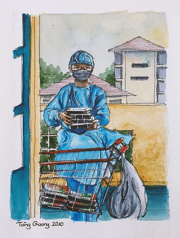 Vẽ về khu cách ly Việt Nam - bộ tranh truyền cảm hứng cực mạnh của một du học sinh - Ảnh 5.