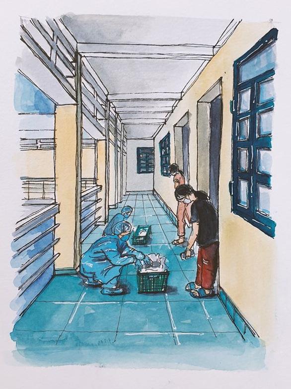 Vẽ về khu cách ly Việt Nam - bộ tranh truyền cảm hứng cực mạnh của một du học sinh - Ảnh 4.