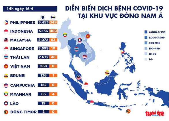 Dịch COVID-19 chiều 16-4: Ổ dịch trên tàu sân bay Mỹ không liên quan Việt Nam - Ảnh 3.