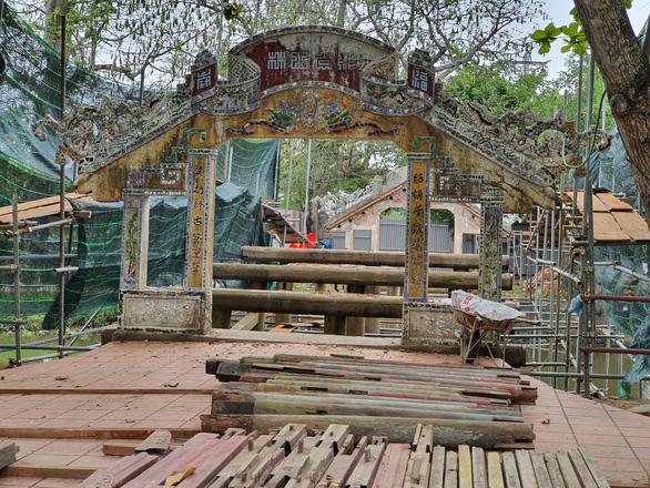 Tiến hành hạ giải để trùng tu cầu ngói Thanh Toàn, di tích hơn 2 thế kỷ - Ảnh 3.
