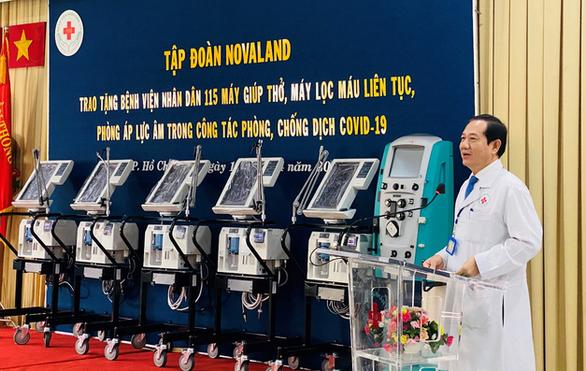 Novaland tặng trang thiết bị y tế đến Bệnh viện Nhân dân 115 - Ảnh 2.