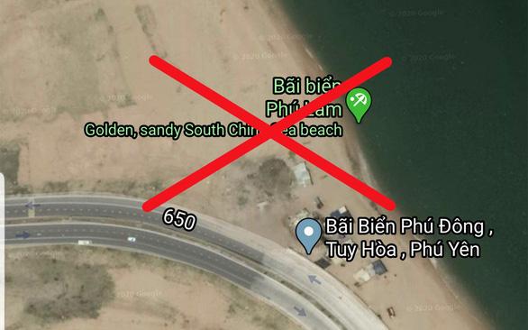 Google Maps biến bãi biển Tuy Hòa thành South China Sea beach - Ảnh 1.