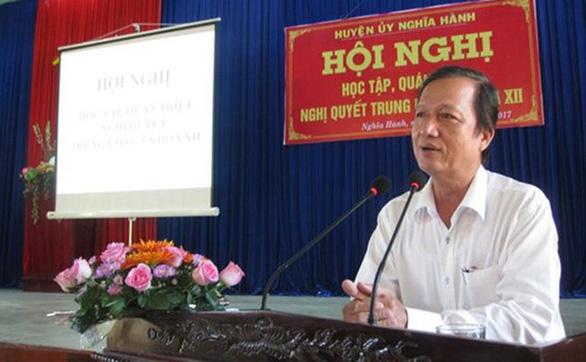 Nhiều sai phạm của nguyên bí thư, chủ tịch huyện mới nghỉ hưu ở Quảng Ngãi - Ảnh 1.