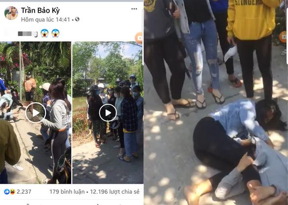 Xác minh hàng chục thanh niên tụ tập cổ vũ 2 cô gái đánh nhau - Ảnh 1.