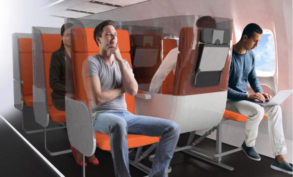 Thiết kế mới hạn chế lây nhiễm virus trên máy bay - Ảnh 2.
