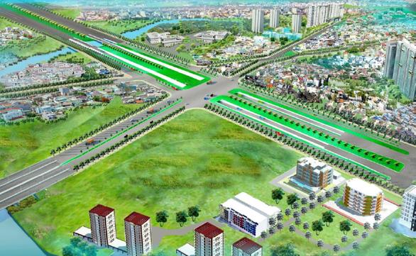 TP.HCM: Khởi công nút giao thông Nguyễn Hữu Thọ - Nguyễn Văn Linh - Ảnh 1.