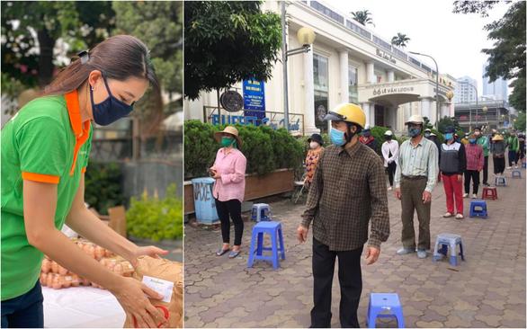 Hứa Vĩ Văn bán tranh, Đại Nghĩa lắp ATM gạo và các sao Việt làm từ thiện trong mùa dịch - Ảnh 4.