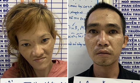 Đôi nam nữ kề dao vào cổ cướp xe của tài xế công nghệ ở TP.HCM sa lưới - Ảnh 1.