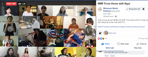 24 nghệ sĩ hát Hòa nhịp con tim, khán giả hát online với Ngọt - Ảnh 5.