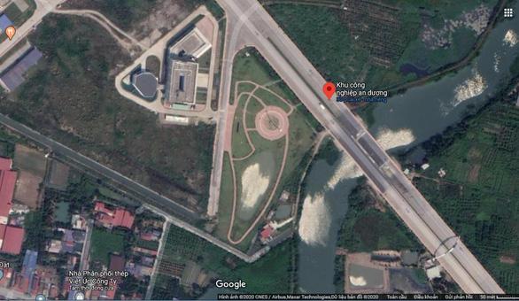 Phá bỏ công trình giống đường lưỡi bò của công ty Trung Quốc trong khu công nghiệp - Ảnh 2.
