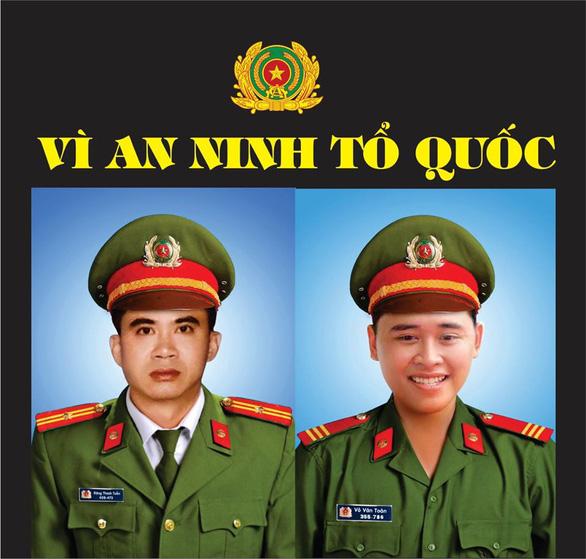 Thăng cấp bậc hàm hai cán bộ, chiến sĩ công an ở Đà Nẵng hi sinh - Ảnh 1.