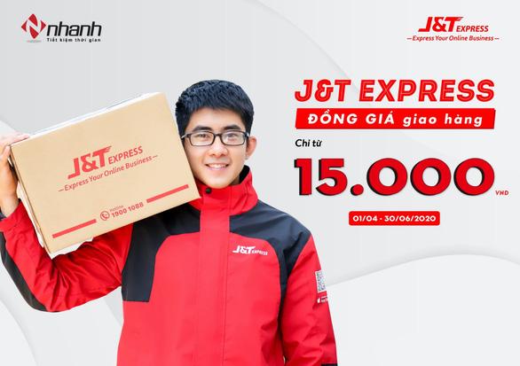 J&T Express đồng giá giao hàng chỉ từ 15.000đ cho khách hàng trên Nhanh.vn - Ảnh 1.