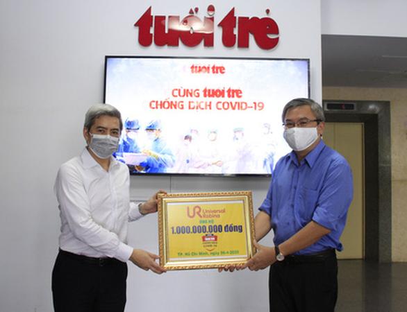 URC Việt Nam góp 1 tỉ đồng Cùng Tuổi Trẻ chống dịch COVID-19 - Ảnh 1.