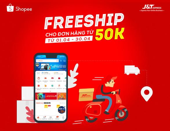 J&T Express khuyến mãi đồng giá giao hàng tháng 4 trên Shopee - Ảnh 1.