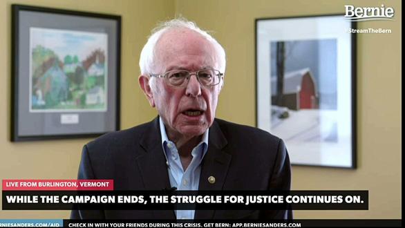Ông Sanders rút lui, ông Biden rộng đường đấu ông Trump - Ảnh 1.
