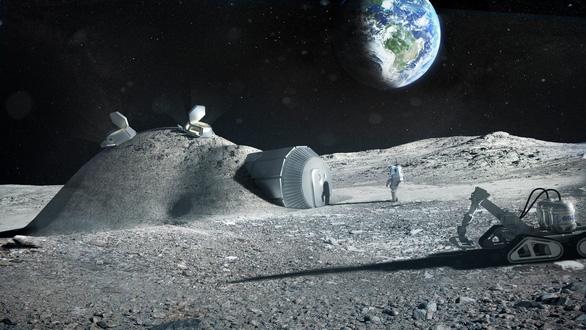Xây dựng căn cứ trên Mặt trăng bằng vật liệu bất ngờ - Ảnh 1.