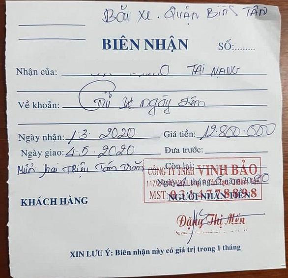 Vụ trả gần 13 triệu tiền gửi xe bị tạm giữ: Công an nói Chủ xe tự gửi - Ảnh 1.